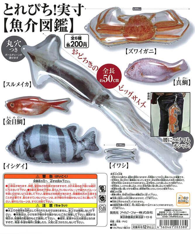 とれぴち!実寸[魚介図鑑](50個入り)