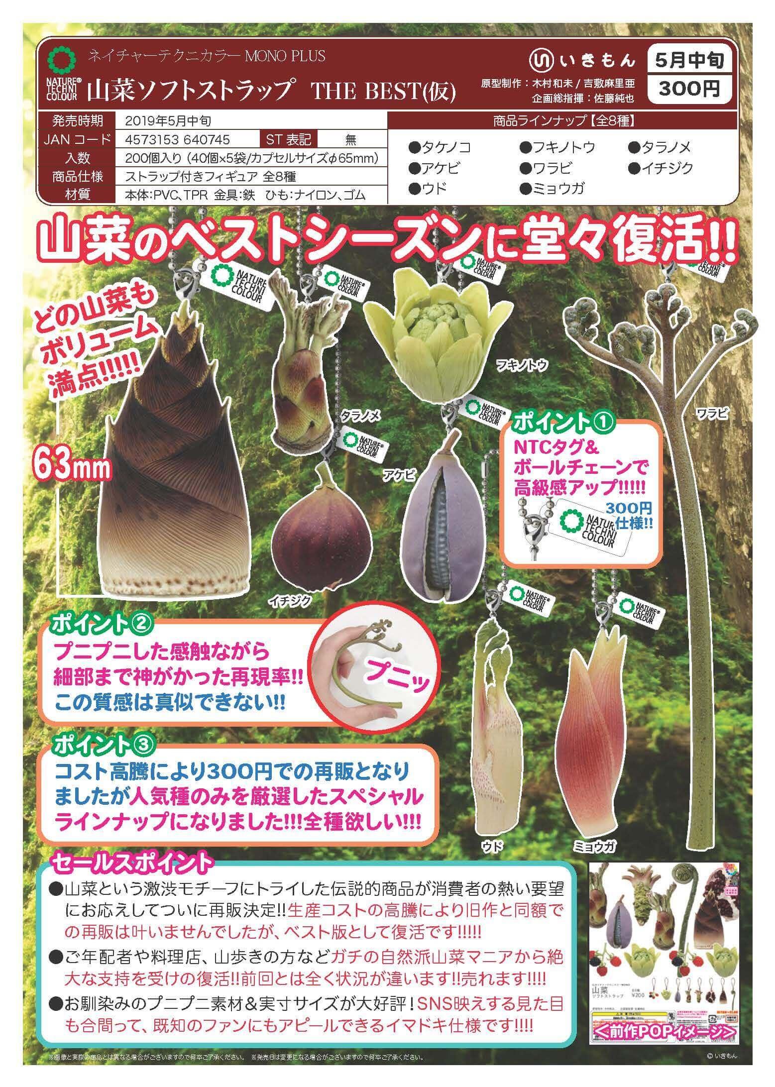 ネイチャーテクニカラーMONO PLUS山菜ソフトストラップ THE BEST[仮](40個入り)