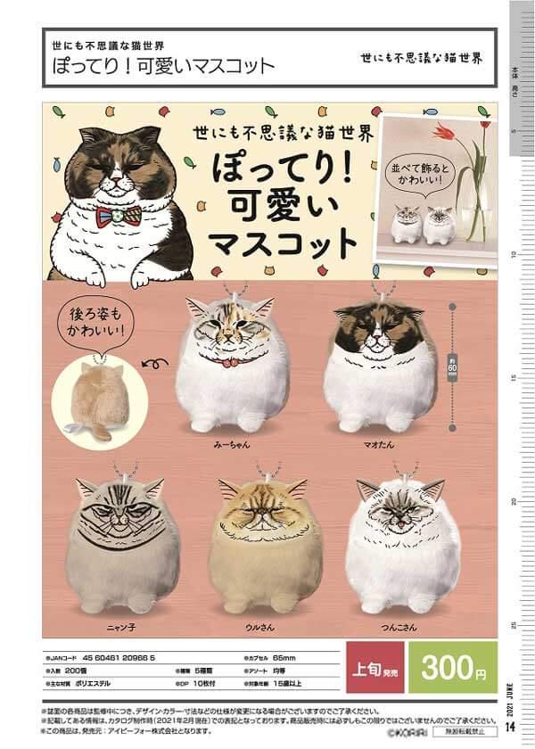 世にも不思議な猫世界 ぽってり!可愛いマスコット(40個入り)