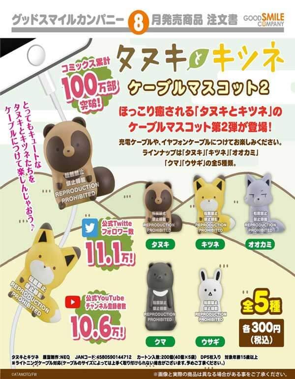 タヌキとキツネ ケーブルマスコット2(40個入り)