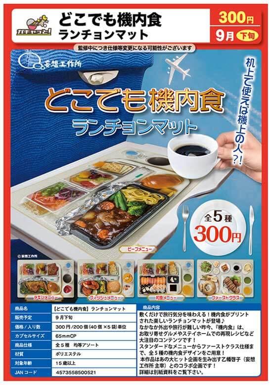 どこでも機内食 ランチョンマット(40個入り)