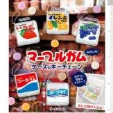 マーブルガム、角ガム[丸川製菓株式会社] マーブルガムみたいな!ケースのキーチェーン(50個入り)