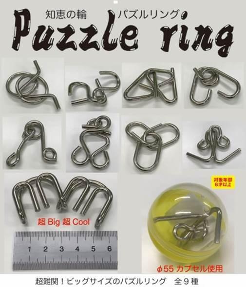 超難関!ビッグサイズのパズルリング(100個入り)
