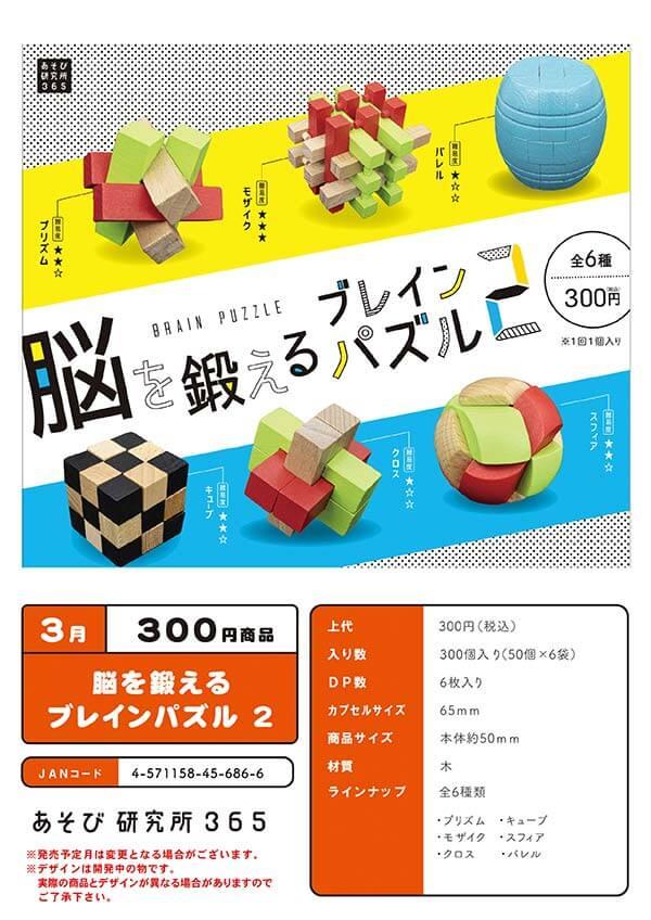 脳を鍛えるブレインパズル2(50個入り)